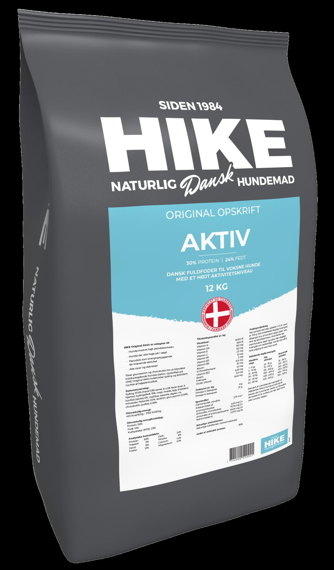 HIKE ORIGINAL Active 30/24 hundemad 12 kg