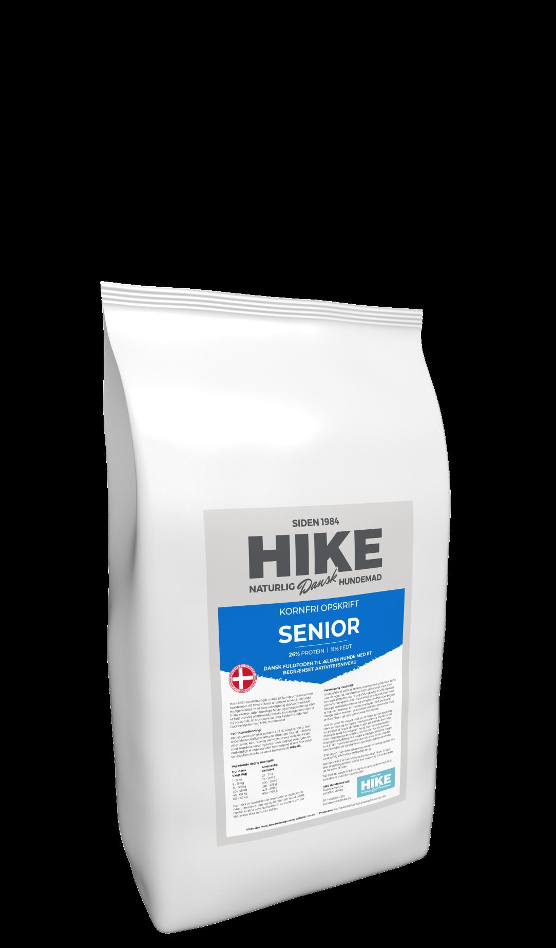 HIKE NATURE Senior 26/11 kornfri hundemad 4 kg