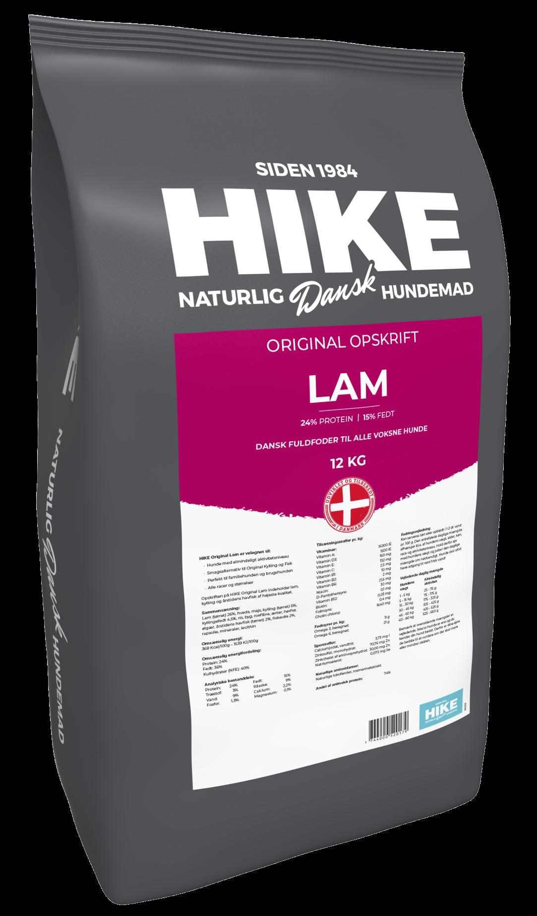 HIKE ORIGINAL Adult LAMB 24/15 hundemad 12 kg
