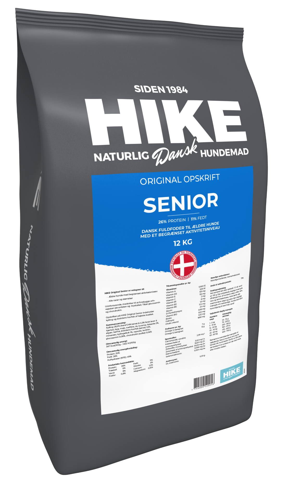 HIKE ORIGINAL Senior 26/11 hundemad 12 kg